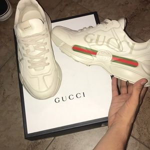 Rhyton Gucci Leather Sneakers
